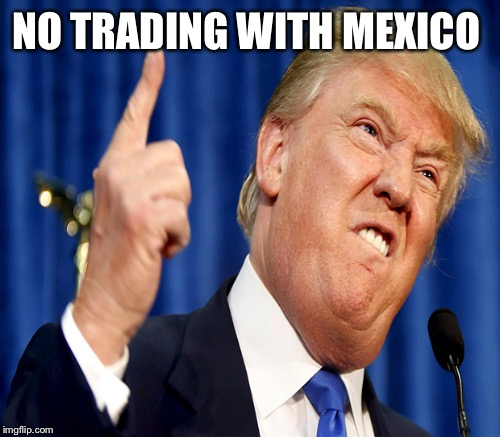 NO TRADING WITH MEXICO | made w/ Imgflip meme maker