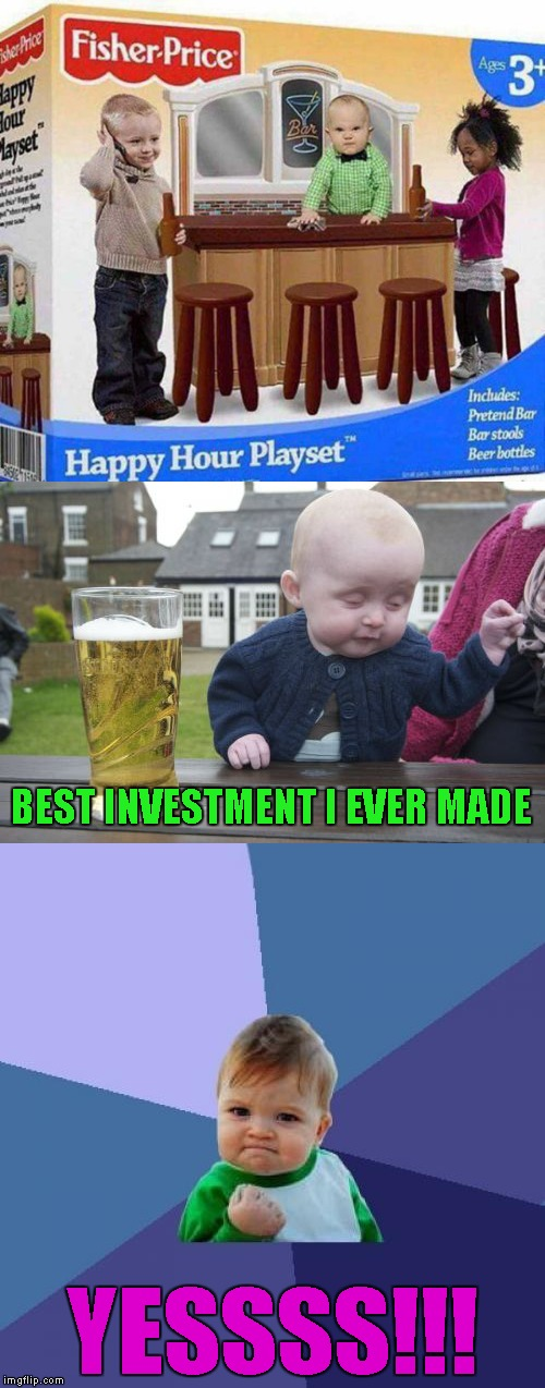 I really hope this is a fake product!!! | BEST INVESTMENT I EVER MADE YESSSS!!! | image tagged in happy hour playset,memes,fisher price,funny,is this real,bad toys | made w/ Imgflip meme maker