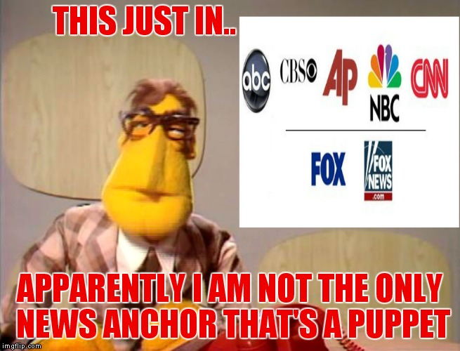 THIS JUST IN.. APPARENTLY I AM NOT THE ONLY NEWS ANCHOR THAT'S A PUPPET | image tagged in puppet master,fake news | made w/ Imgflip meme maker