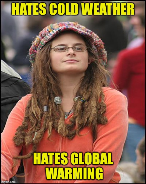 HATES COLD WEATHER HATES GLOBAL WARMING | made w/ Imgflip meme maker