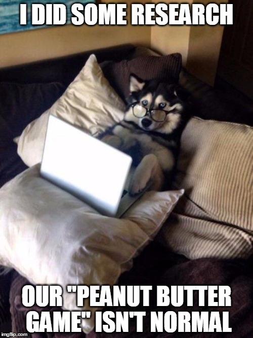 "Husky Study | I DID SOME RESEARCH OUR ""PEANUT BUTTER GAME"" ISN'T NORMAL 