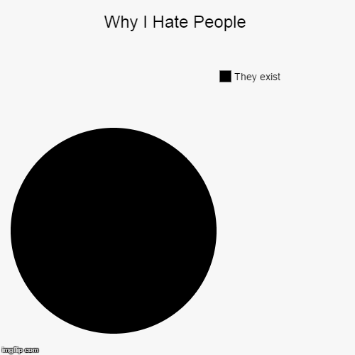 Why I Hate People | They exist | image tagged in funny,pie charts | made w/ Imgflip pie chart maker
