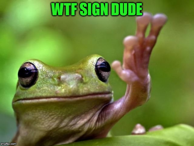 WTF SIGN DUDE | made w/ Imgflip meme maker