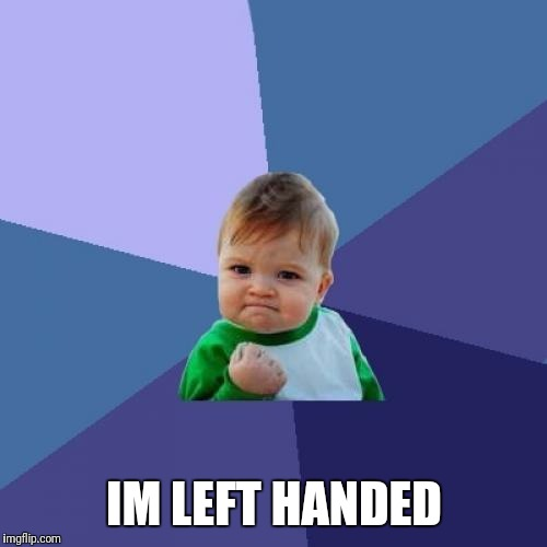 Success Kid Meme | IM LEFT HANDED | image tagged in memes,success kid | made w/ Imgflip meme maker