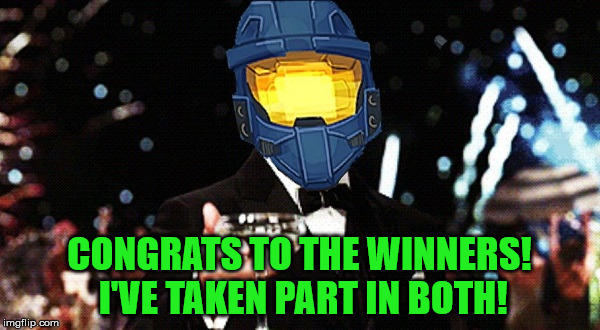 Cheers Ghost | CONGRATS TO THE WINNERS! I'VE TAKEN PART IN BOTH! | image tagged in cheers ghost | made w/ Imgflip meme maker