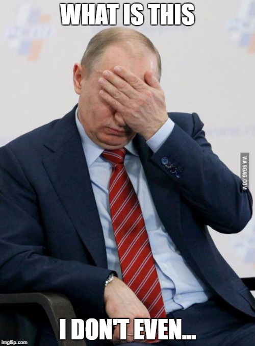 Putin Facepalm | WHAT IS THIS I DON'T EVEN... | image tagged in putin facepalm | made w/ Imgflip meme maker