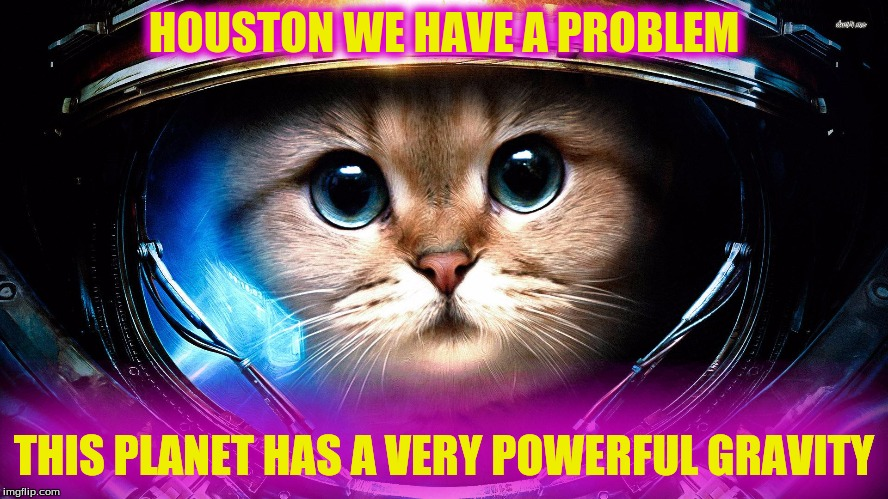 HOUSTON WE HAVE A PROBLEM THIS PLANET HAS A VERY POWERFUL GRAVITY | made w/ Imgflip meme maker