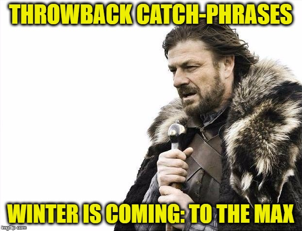 Brace Yourselves X is Coming Meme | THROWBACK CATCH-PHRASES WINTER IS COMING: TO THE MAX | image tagged in memes,brace yourselves x is coming | made w/ Imgflip meme maker