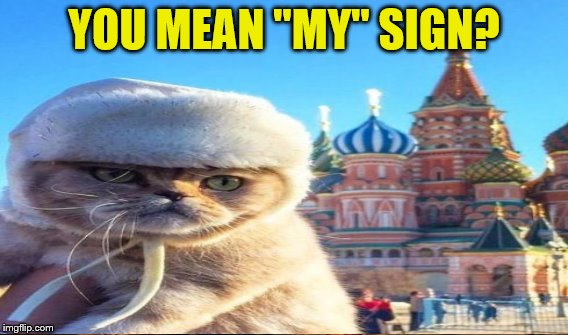 "YOU MEAN ""MY"" SIGN? 