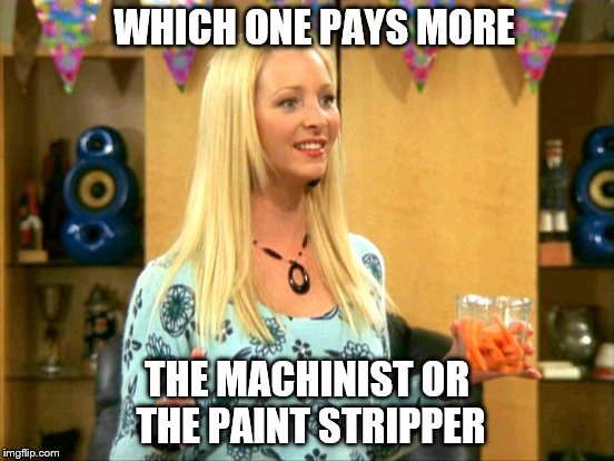 WHICH ONE PAYS MORE THE MACHINIST OR THE PAINT STRIPPER | made w/ Imgflip meme maker