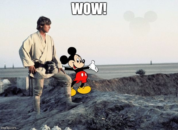 Mickey and luke | WOW! | image tagged in mickey and luke | made w/ Imgflip meme maker