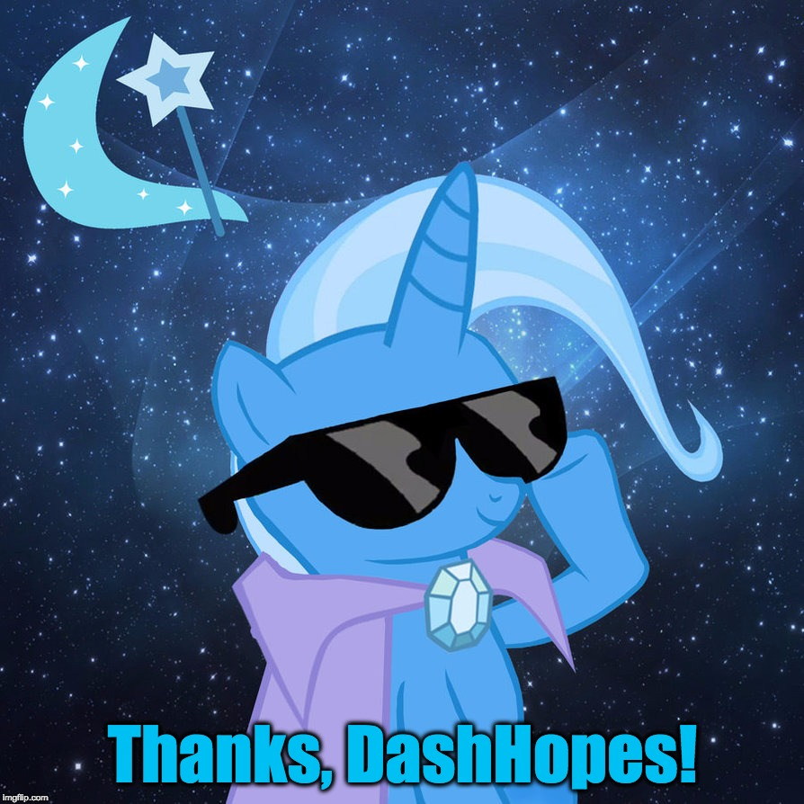 Thanks, DashHopes! | made w/ Imgflip meme maker