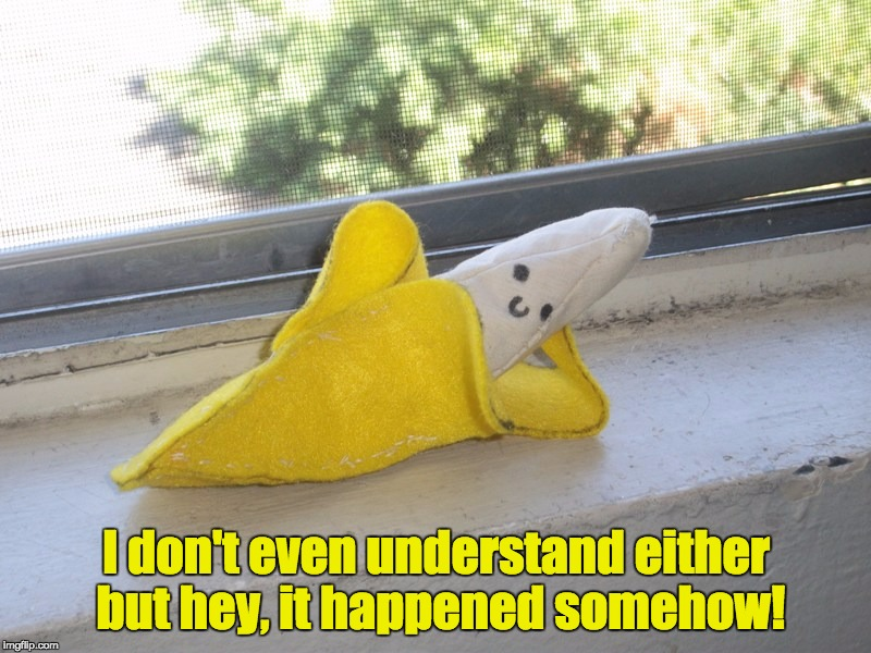 Seductive Banana | I don't even understand either but hey, it happened somehow! | image tagged in seductive banana | made w/ Imgflip meme maker