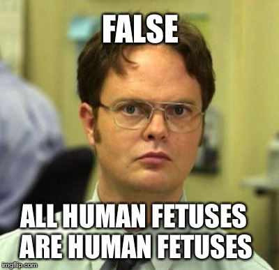 FALSE ALL HUMAN FETUSES ARE HUMAN FETUSES | made w/ Imgflip meme maker