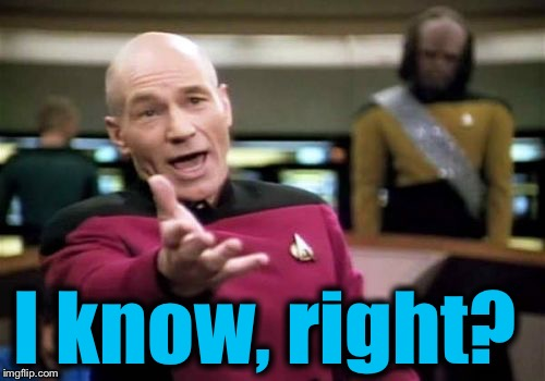 Picard Wtf Meme | I know, right? | image tagged in memes,picard wtf | made w/ Imgflip meme maker