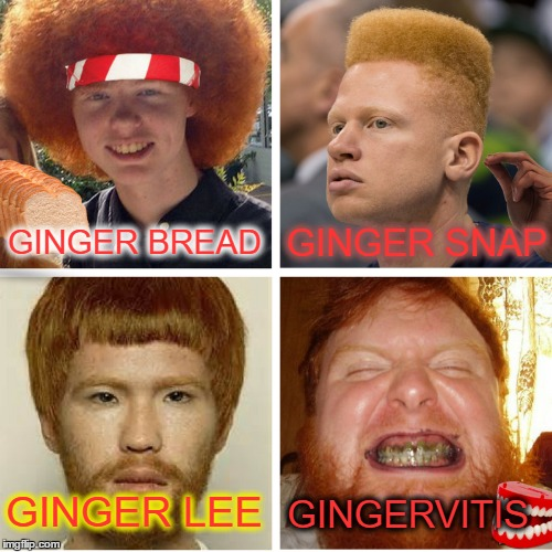 "Don't call us ""Gingers"" only we can say ""Gingas""  