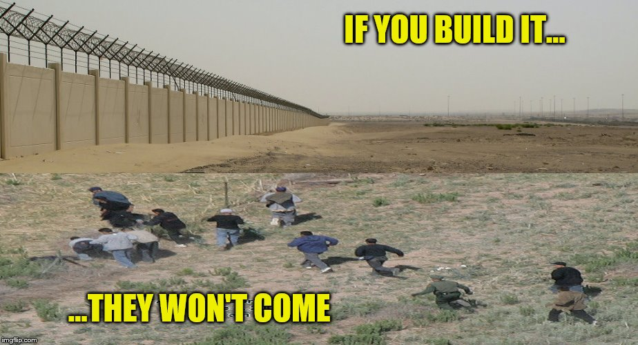Build the wall and the illegal immigrants won't come | IF YOU BUILD IT... ...THEY WON'T COME | image tagged in memes,illegal immigration,build the wall,mexican border | made w/ Imgflip meme maker