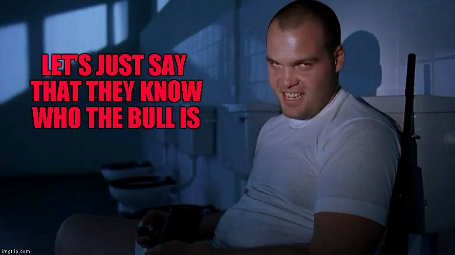 LET'S JUST SAY THAT THEY KNOW WHO THE BULL IS | made w/ Imgflip meme maker