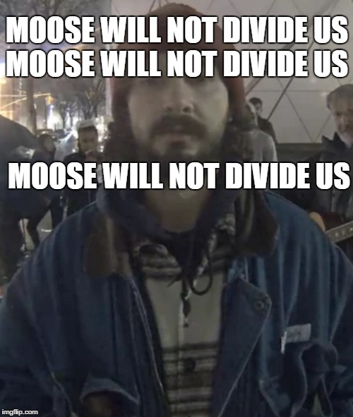 MOOSE WILL NOT DIVIDE US MOOSE WILL NOT DIVIDE US MOOSE WILL NOT DIVIDE US | made w/ Imgflip meme maker