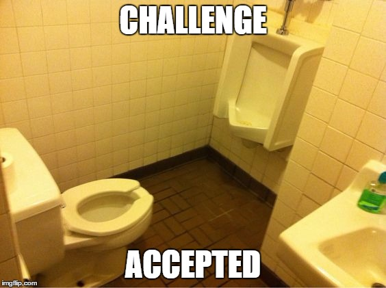 And he takes the shot | CHALLENGE ACCEPTED | image tagged in challenge accepted | made w/ Imgflip meme maker