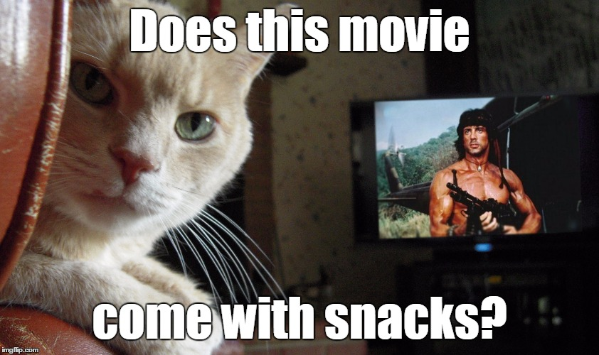 Does this movie come with snacks? | made w/ Imgflip meme maker