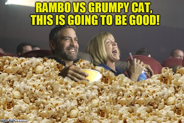 RAMBO VS GRUMPY CAT, THIS IS GOING TO BE GOOD! | made w/ Imgflip meme maker