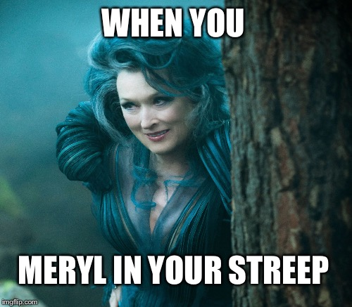 WHEN YOU MERYL IN YOUR STREEP | made w/ Imgflip meme maker