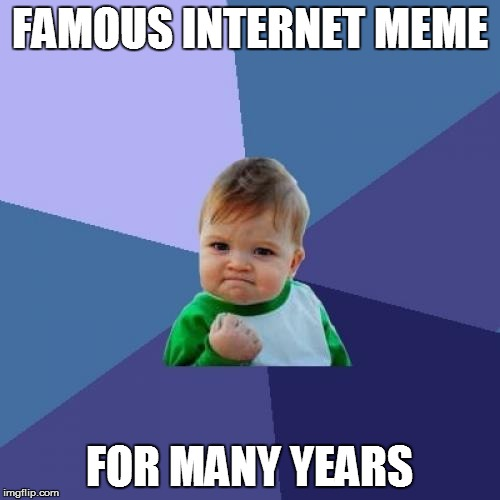 Success Kid Meme | FAMOUS INTERNET MEME FOR MANY YEARS | image tagged in memes,success kid | made w/ Imgflip meme maker