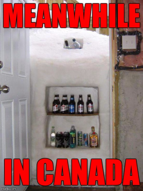 If you've ever had frozen beer on a stick, you might be Canadian | MEANWHILE IN CANADA | image tagged in cold beer,snow fridge,winter,meanwhile in canada | made w/ Imgflip meme maker