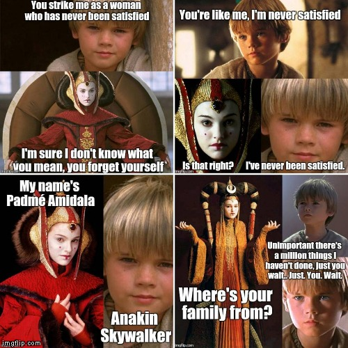 ...like Ben Kenobi with the saber of light - you see it right? | image tagged in hamilton,alexander hamilton,star wars,the phantom menace,anakin skywalker,padme | made w/ Imgflip meme maker