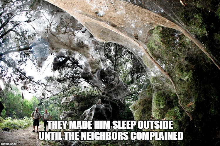 THEY MADE HIM SLEEP OUTSIDE UNTIL THE NEIGHBORS COMPLAINED | made w/ Imgflip meme maker
