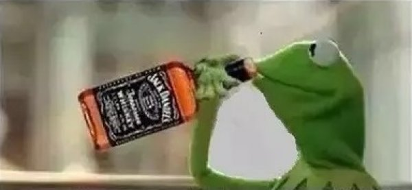Kermit The Frog Drinking Vodka Blank Template - ImgflipKermit Drinking