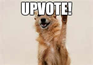 Dog paw | UPVOTE! | image tagged in dog paw | made w/ Imgflip meme maker