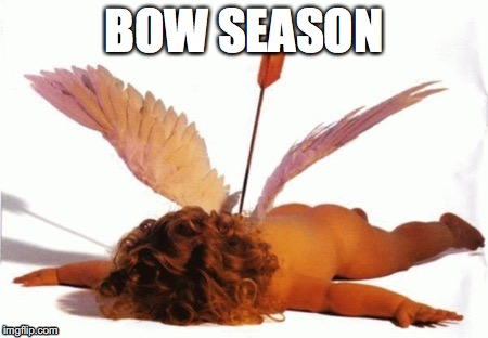 Bow Season | BOW SEASON | image tagged in cupid,valentine's day | made w/ Imgflip meme maker