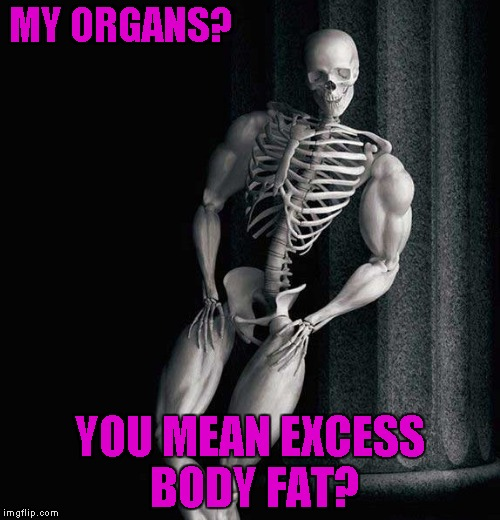 "Introducing ""Overly Manly Skeleton""!!! 