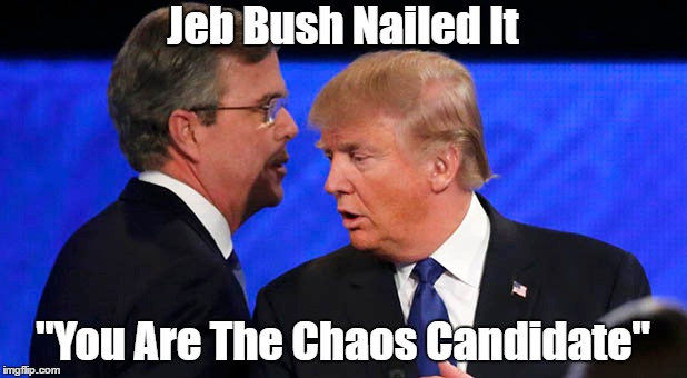 "Jeb Bush Nailed It ""You Are The Chaos Candidate"" 