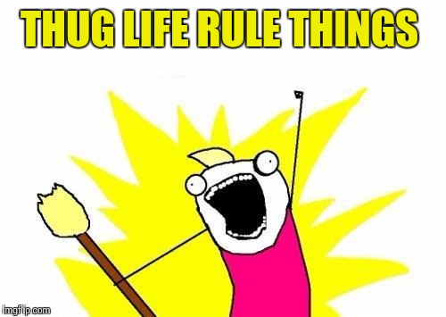 THUG LIFE RULE THINGS | image tagged in memes,x all the y | made w/ Imgflip meme maker