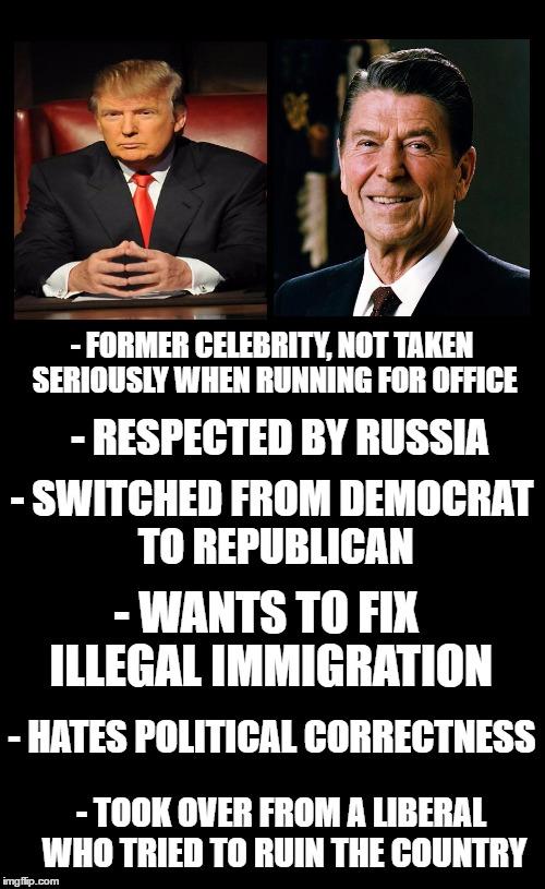 Trump Vs Reagan Imgflip