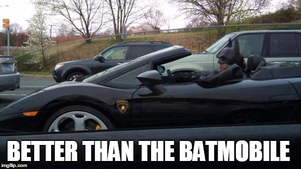 BETTER THAN THE BATMOBILE | image tagged in batman,porsche | made w/ Imgflip meme maker
