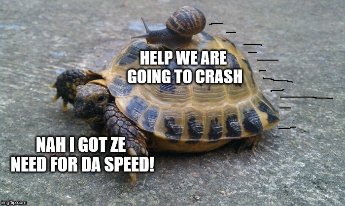 NAH I GOT ZE NEED FOR DA SPEED! HELP WE ARE GOING TO CRASH | made w/ Imgflip meme maker