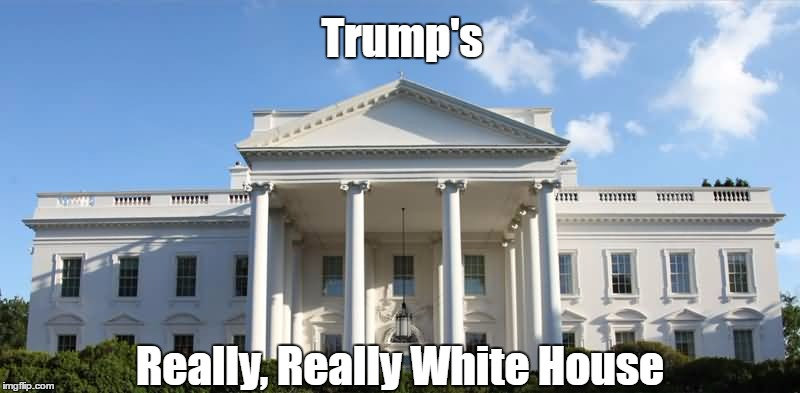 Trump's Really, Really White House | made w/ Imgflip meme maker