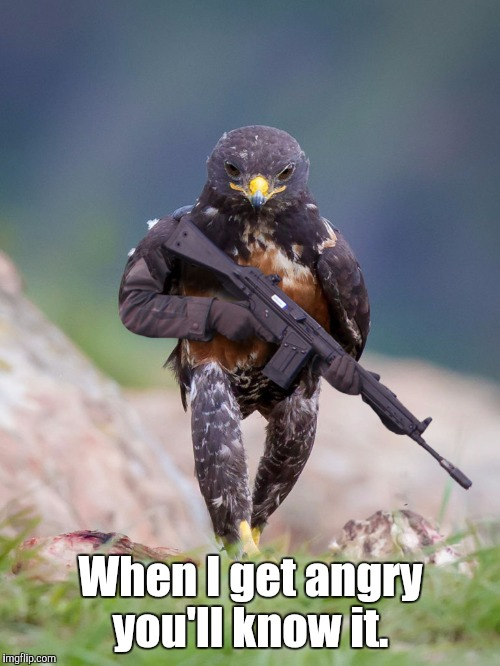 When I get angry you'll know it. | made w/ Imgflip meme maker