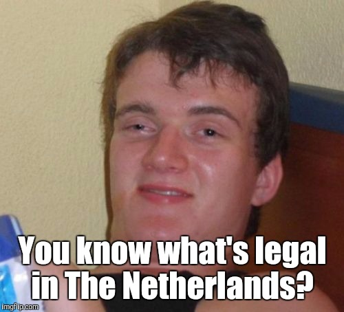 10 Guy Meme | You know what's legal in The Netherlands? | image tagged in memes,10 guy | made w/ Imgflip meme maker