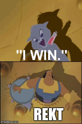 GET RECKED YZMA | REKT | image tagged in rekt,memes | made w/ Imgflip meme maker