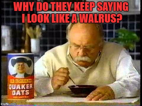 WHY DO THEY KEEP SAYING I LOOK LIKE A WALRUS? | made w/ Imgflip meme maker
