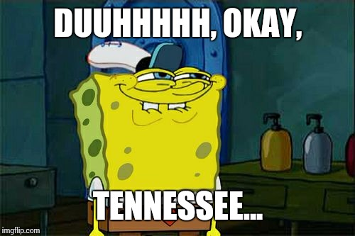 Dont You Squidward Meme | DUUHHHHH, OKAY, TENNESSEE... | image tagged in memes,dont you squidward | made w/ Imgflip meme maker