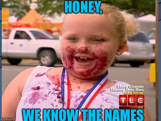HONEY, WE KNOW THE NAMES | made w/ Imgflip meme maker