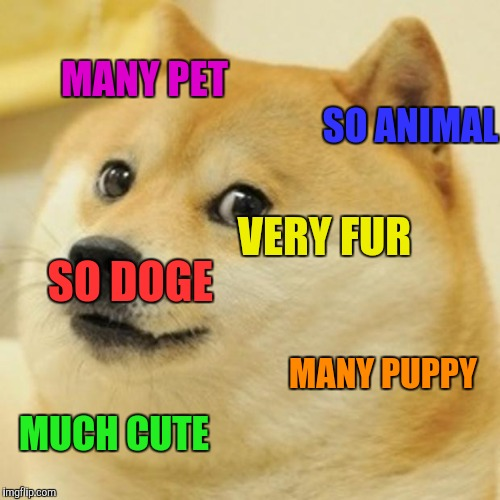 Doge | SO DOGE MANY PUPPY VERY FUR MUCH CUTE SO ANIMAL MANY PET | image tagged in memes,doge | made w/ Imgflip meme maker
