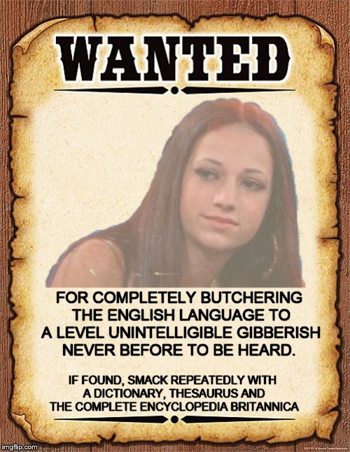 Why, just why? | IF FOUND, SMACK REPEATEDLY WITH A DICTIONARY, THESAURUS AND THE COMPLETE ENCYCLOPEDIA BRITANNICA FOR COMPLETELY BUTCHERING THE ENGLISH LANGU | image tagged in how bow dah,memes,wanted,unwanted | made w/ Imgflip meme maker