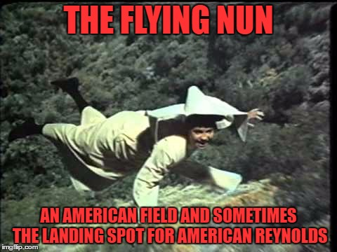 THE FLYING NUN AN AMERICAN FIELD AND SOMETIMES THE LANDING SPOT FOR AMERICAN REYNOLDS | made w/ Imgflip meme maker